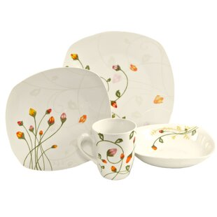 Classic 16 Piece Dinnerware Set Service for 4  sc 1 st  Wayfair & Burnt Orange Dinnerware Sets | Wayfair