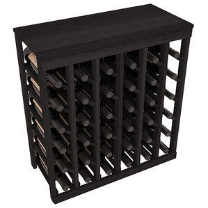 karnes redwood table top 36 bottle floor wine rack - Wine Rack Table
