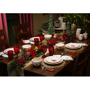 Winterfest 16 Piece Dinnerware Set, Service for 4