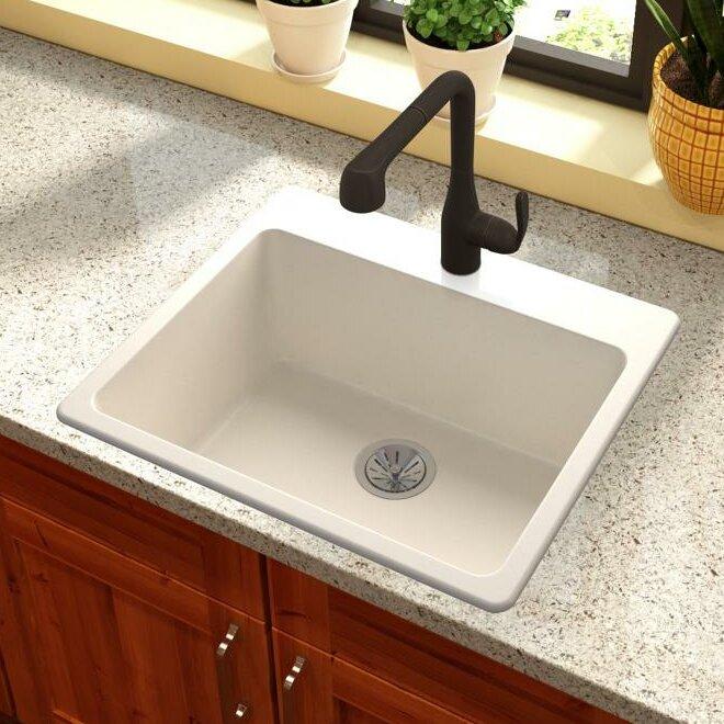 quartz luxe 25   x 22   drop in kitchen sink elkay quartz luxe 25   x 22   drop in kitchen sink  u0026 reviews   wayfair  rh   wayfair com