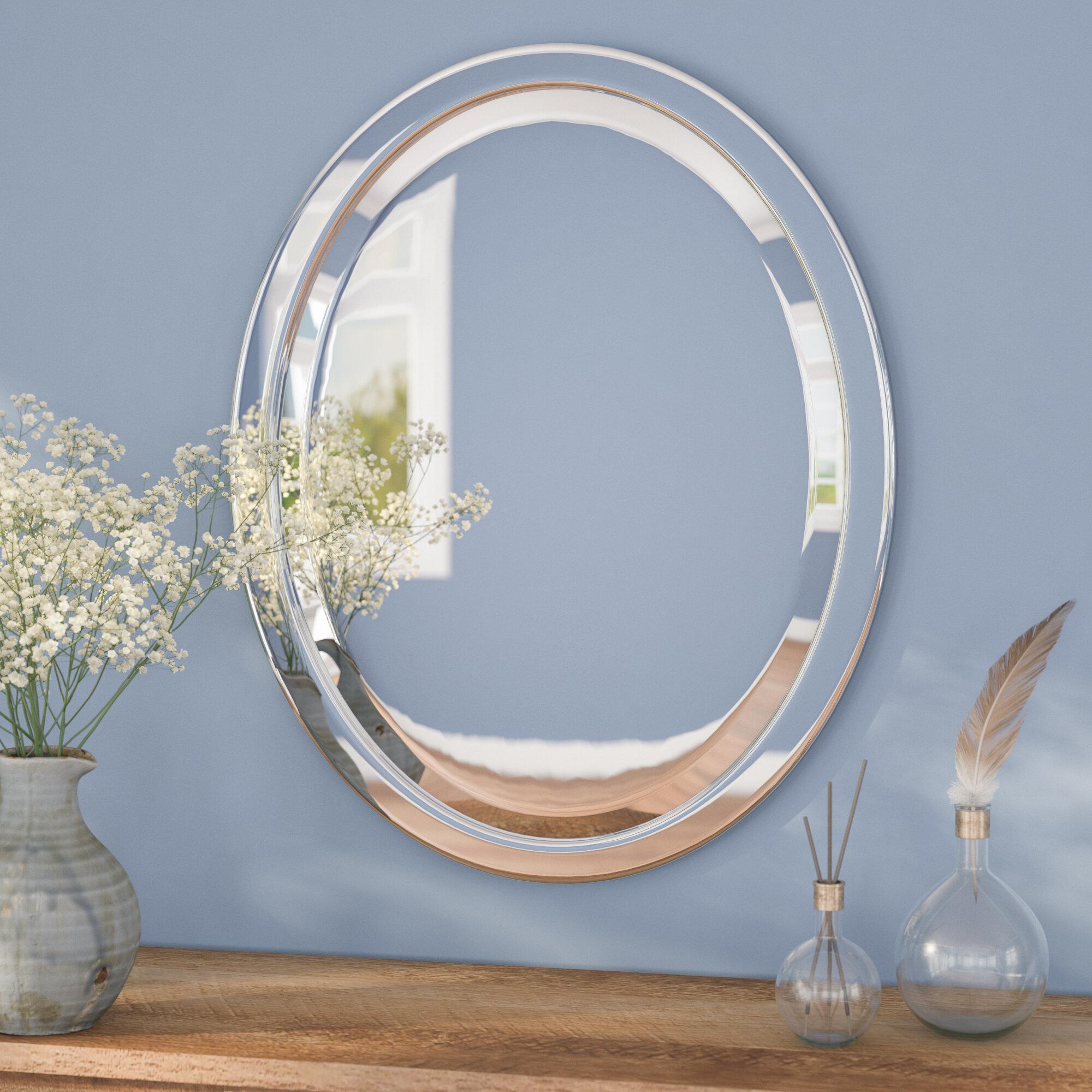 Andover Mills Needham Metal Oval Bathroom/Vanity Wall Mirror ...