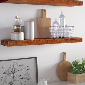 sharri rough cedar true floating shelf