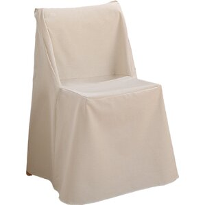 Sure Fit Cotton Duck Box Cushion Dining Chair Slipcover Image