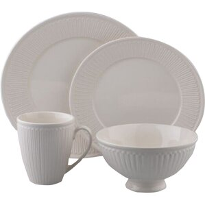 Guillaume 16 Piece Dinnerware Set, Service For 4