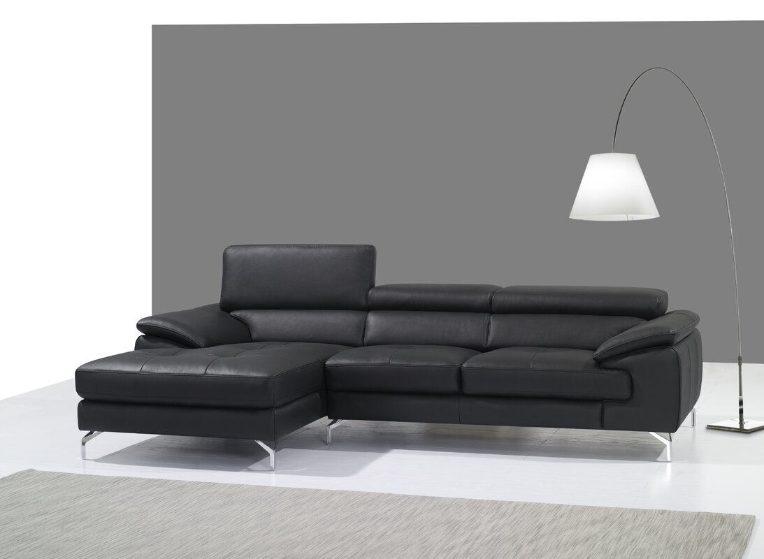 Courtdale Leather Sectional  sc 1 st  Wayfair : sofa sectional leather - Sectionals, Sofas & Couches