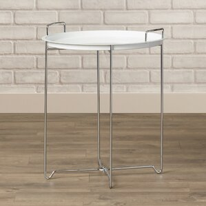 X Base Metal Tray Table