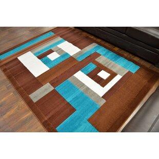 Brown Turquoise Area Rug Wayfair