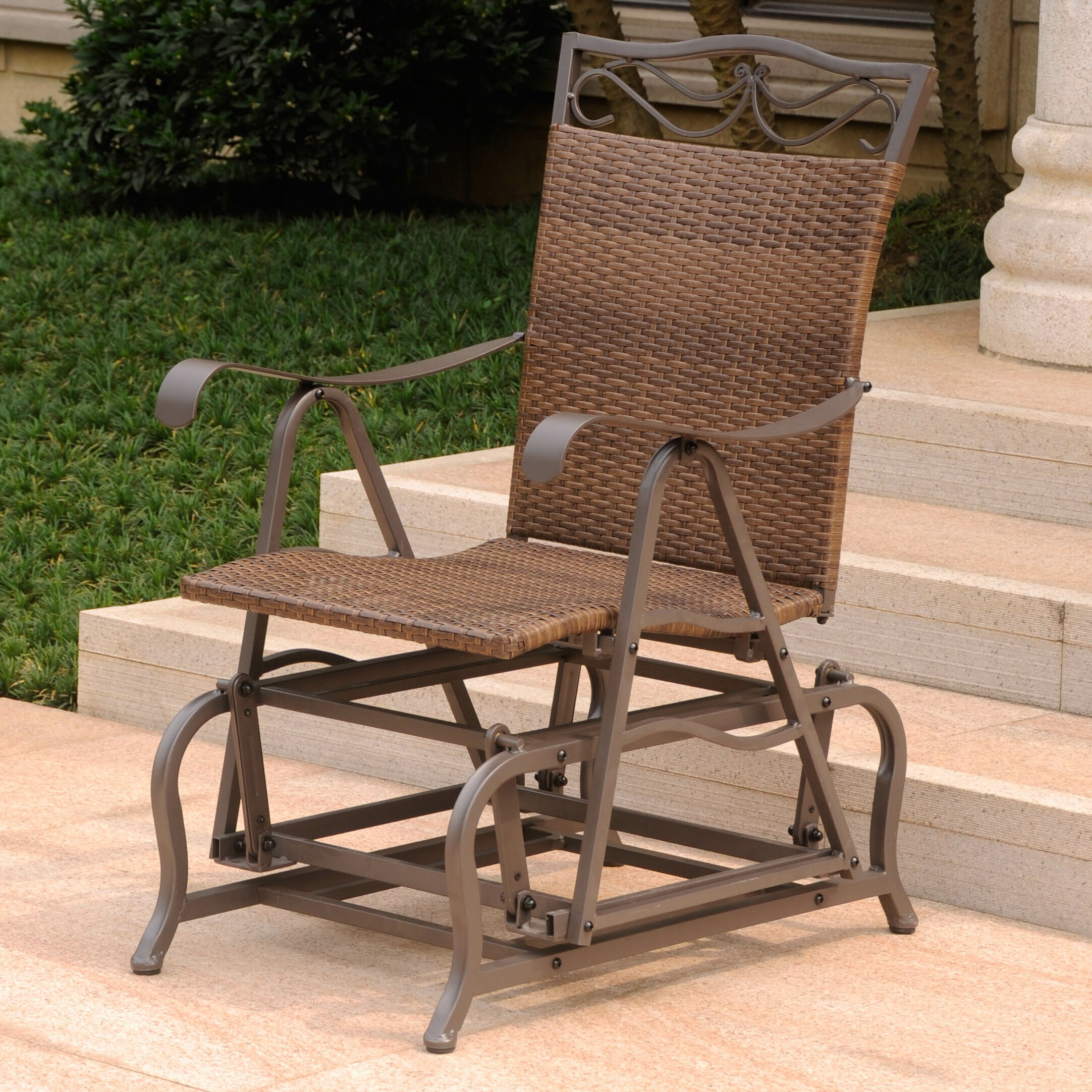 Admirable Stapleton Patio Glider Chair Download Free Architecture Designs Scobabritishbridgeorg