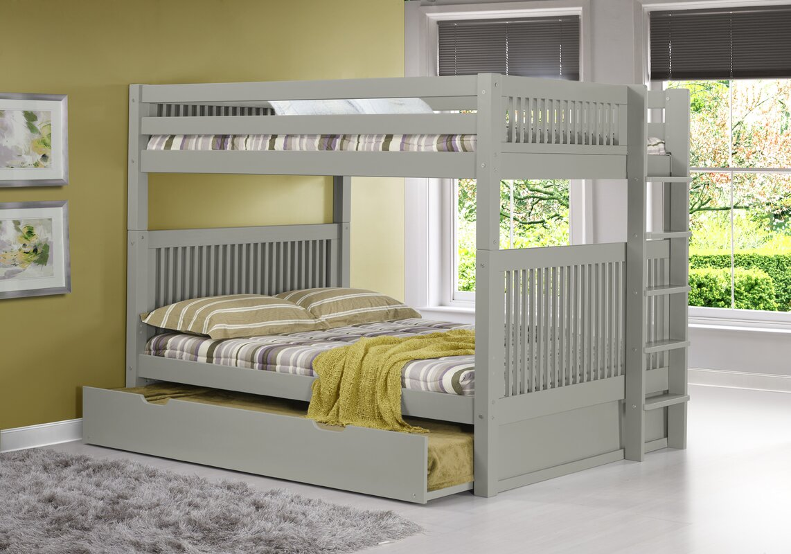 Full Over Full Bed Part - 36: Full Over Full Bunk Bed With Trundle