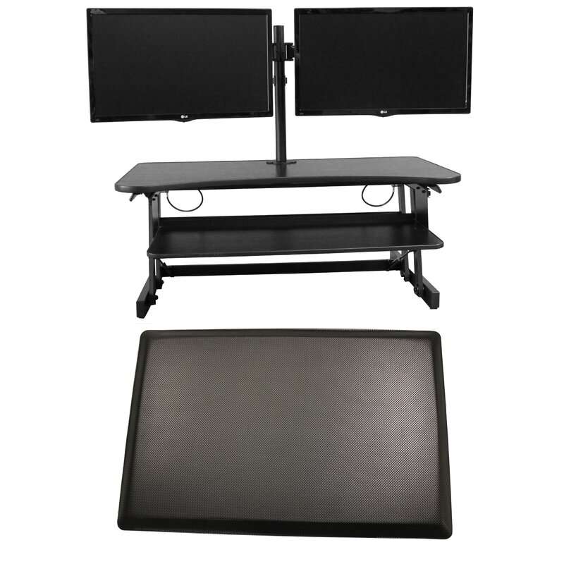 Latitude Run Cheverton Dadr Height Adjustable Sit To Standing Desk