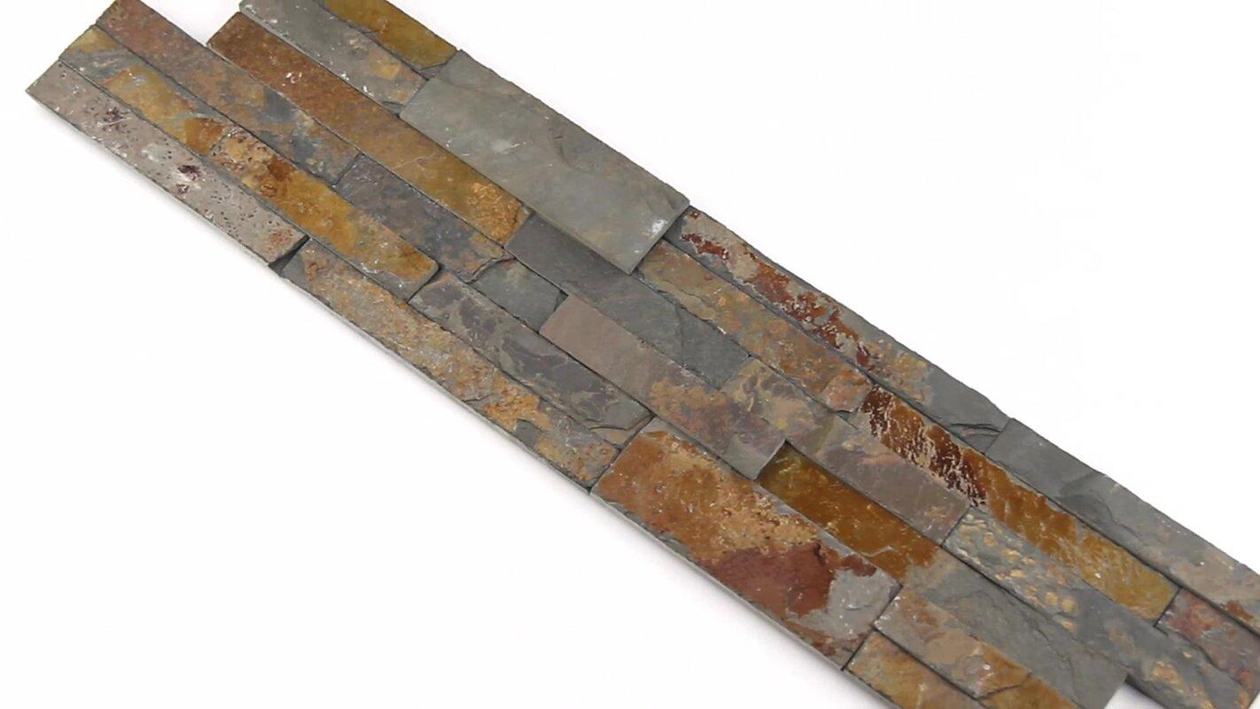 6 X 24 Slate Splitface Tile In