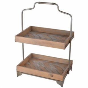 Allensville Aesthetically Charmed 2 Tier Wooden Tiered Stand