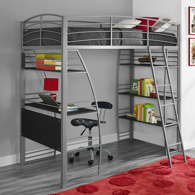 Pictures Of Loft Beds viv + rae nadia twin loft bed & reviews | wayfair