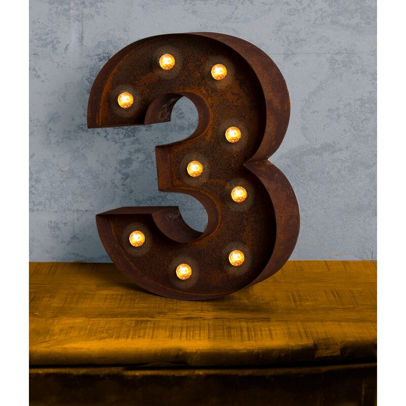 Number LED Marquee Sign