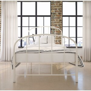 White Metal Bed Frames metal white beds you'll love | wayfair