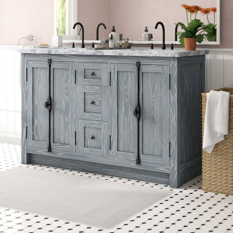 Gracie Oaks Rickard 55 Double Bathroom Vanity Set Reviews Wayfair