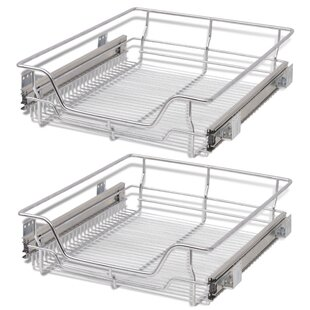 Pull-Out Wire Under Shelf Basket (Set of 2) by Furnhouse