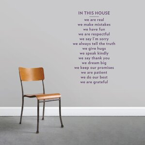 In This House Wall Decal Part 35
