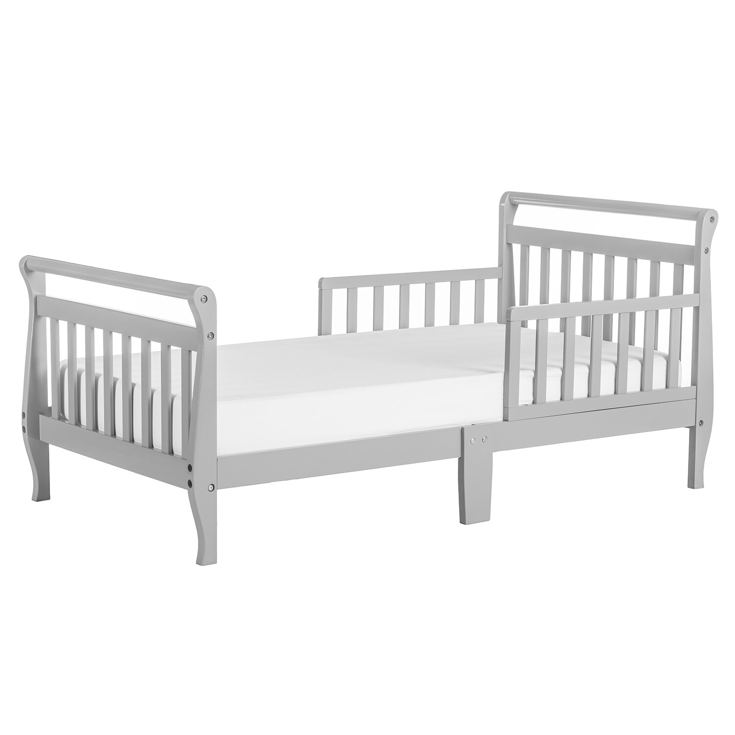 Toddler White Sleigh Bed