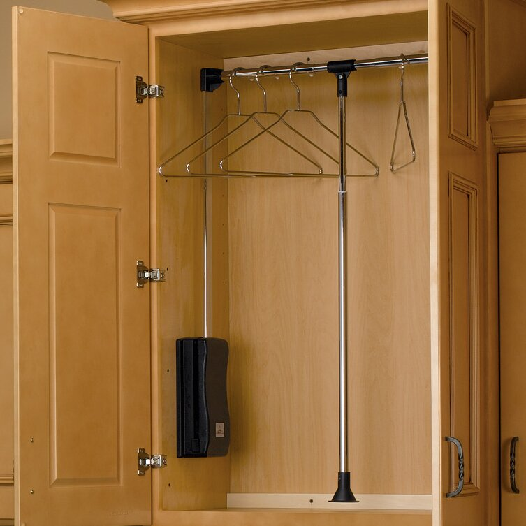 Ordinaire Pull Down Closet Rod | Wayfair