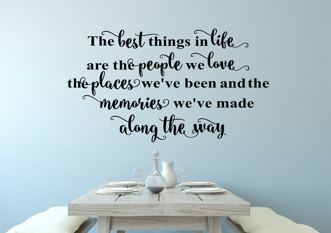 Delmy The Best Things in Life Vinyl Wall Decal