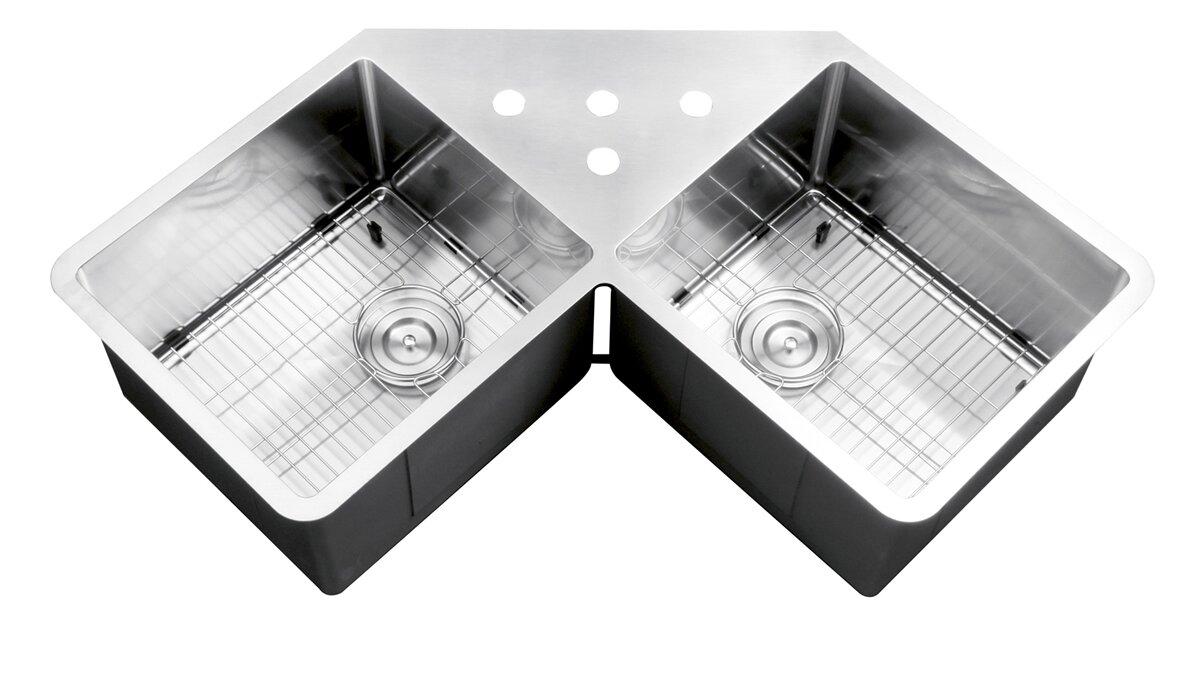 Double Bowl Corner Kitchen Sink Undermount - Kitchen Appliances Tips ...