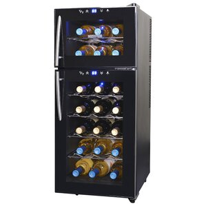 21 Bottle Dual Zone Freestanding Wine Cooler by NewAir