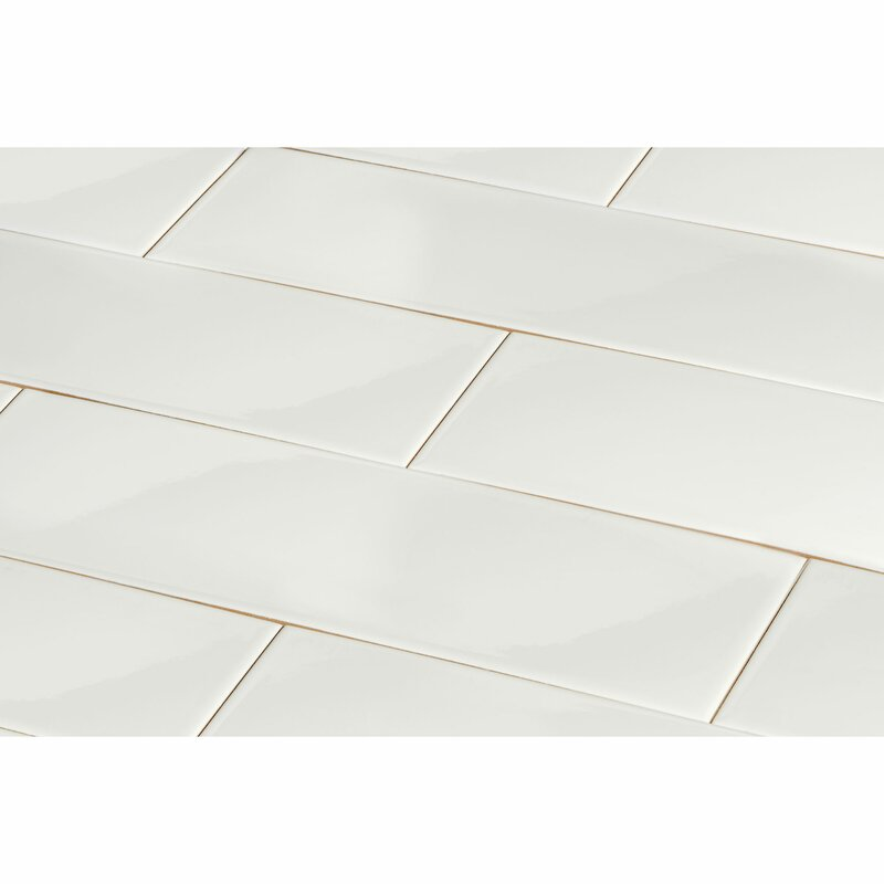 Giorbello 4 X 12 Ceramic Subway Tile In White Reviews Wayfair
