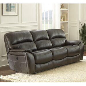 Ashford Leather Reclining Sofa by Red Barrel Studio