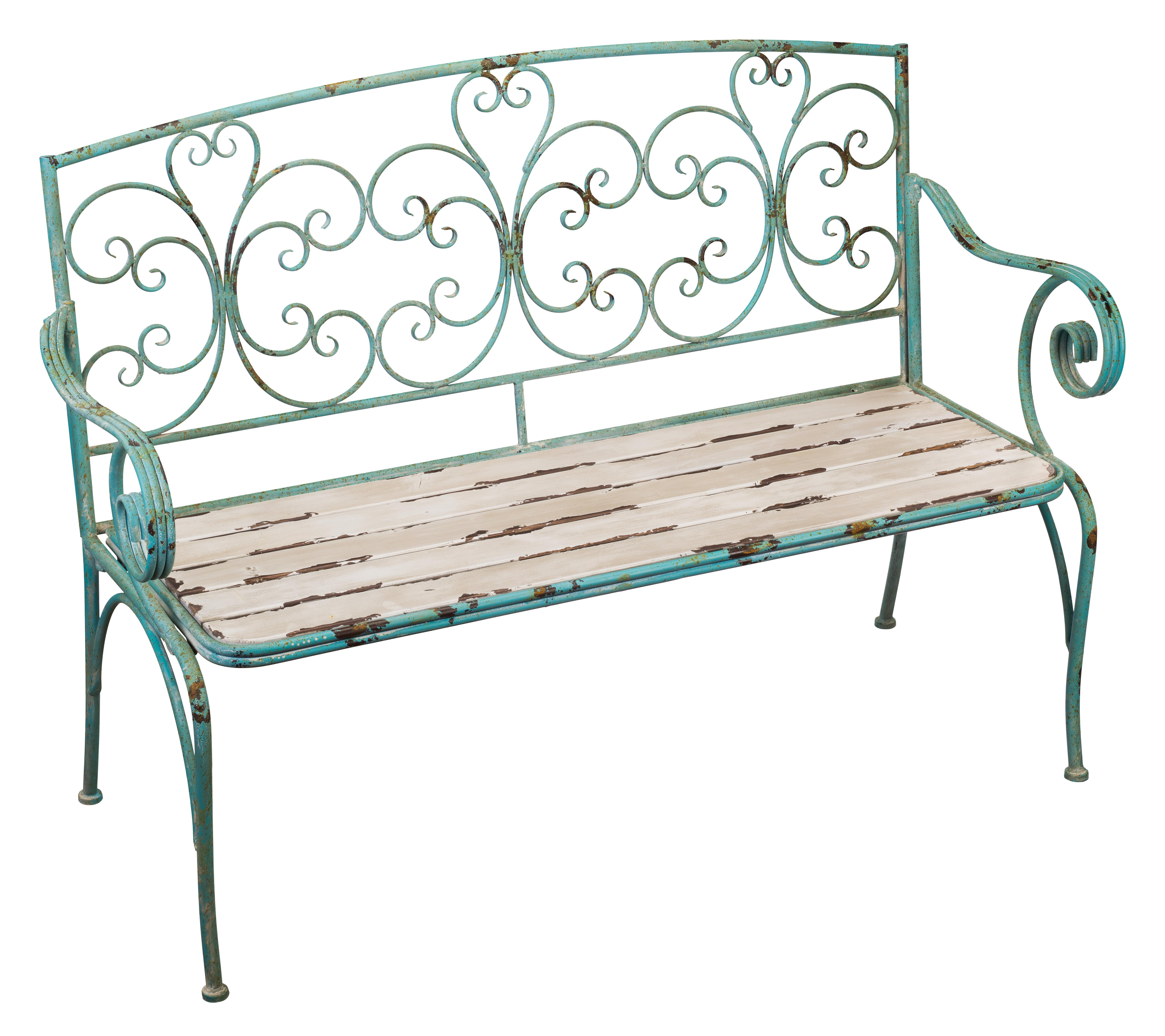 One Allium Way Phillippi Wrought Iron Garden Bench U0026 Reviews | Wayfair