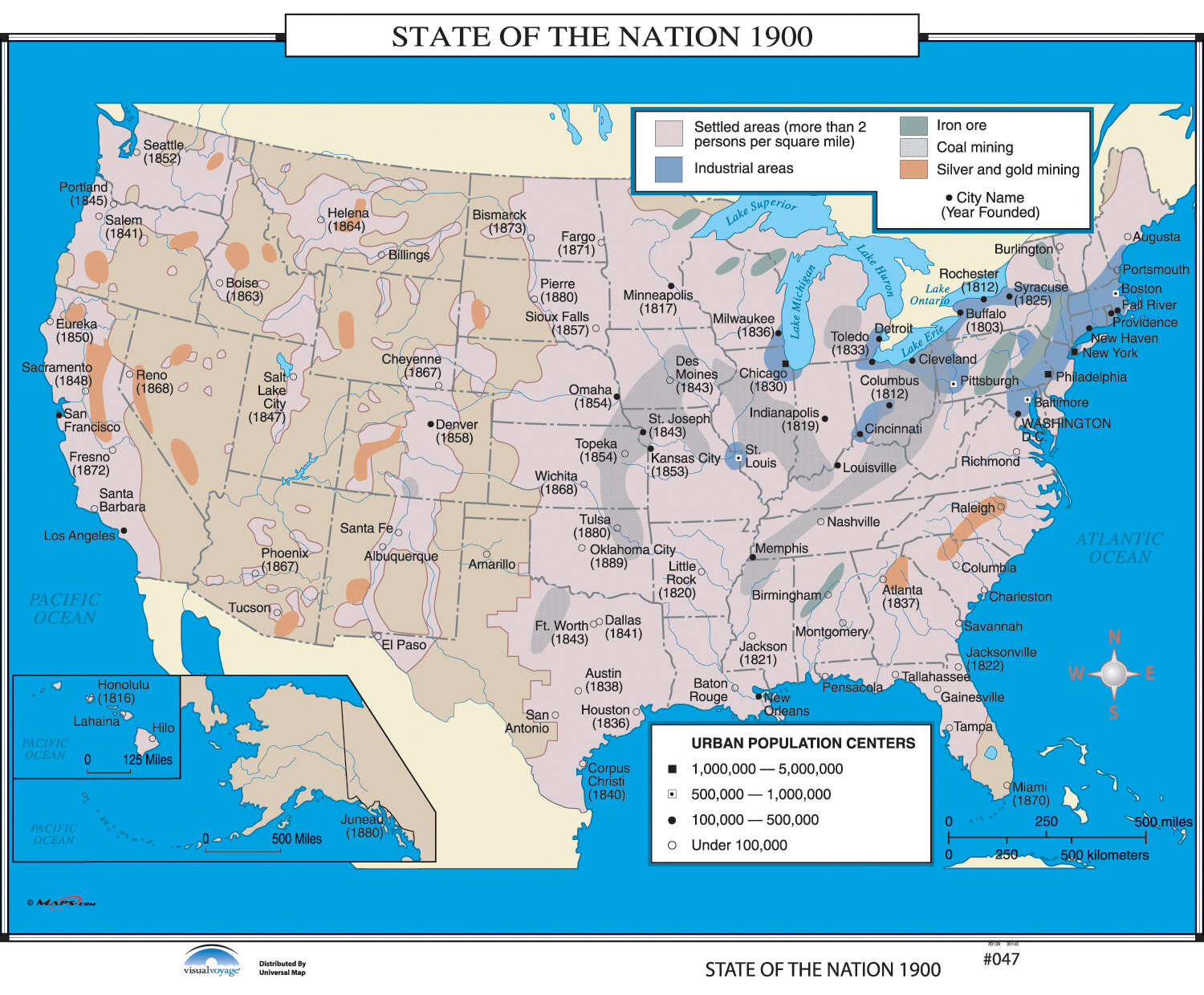 Universal Map Us History Wall Maps State Of The Nation 1900 - 1880-map-of-us