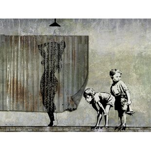 Shower Peepers By Banksy Graphic Art On Wrapped Canvas