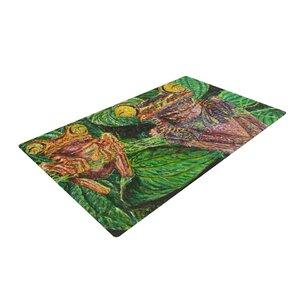 David Joyner Frogs Green/Red Area Rug