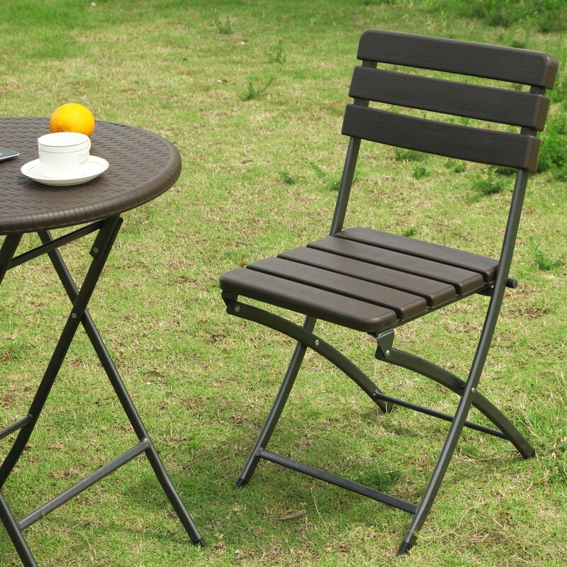 Danielson Bistro Style Folding Patio Dining Chair