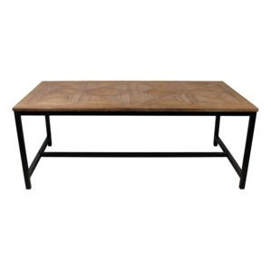 young industrial dining table