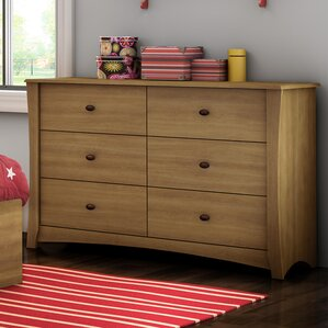 Jumper 6 Drawer Double Dresser by South Shore