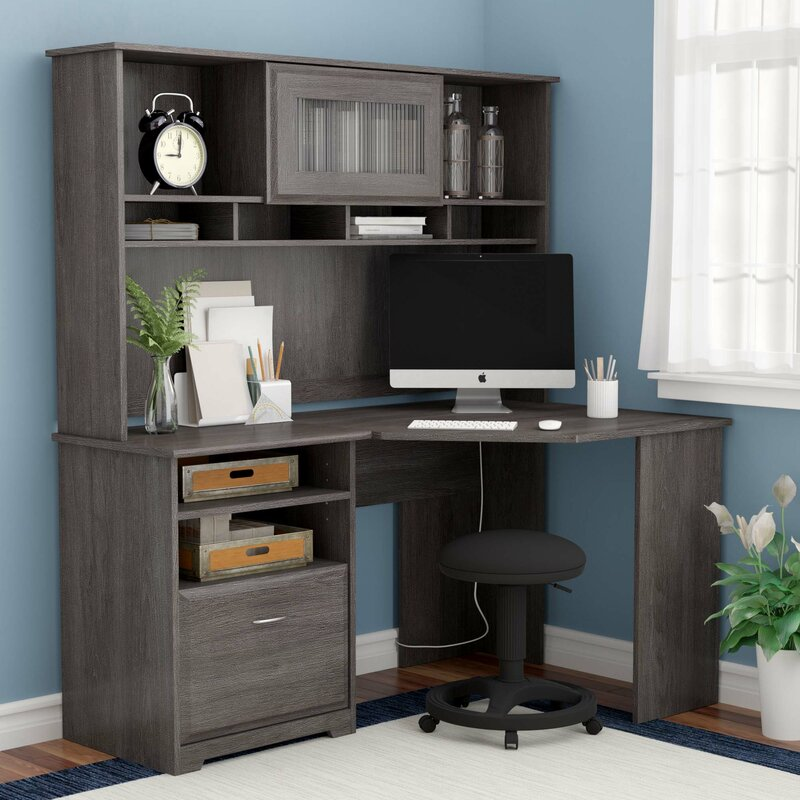 Hilale Computer Desk With Hutch