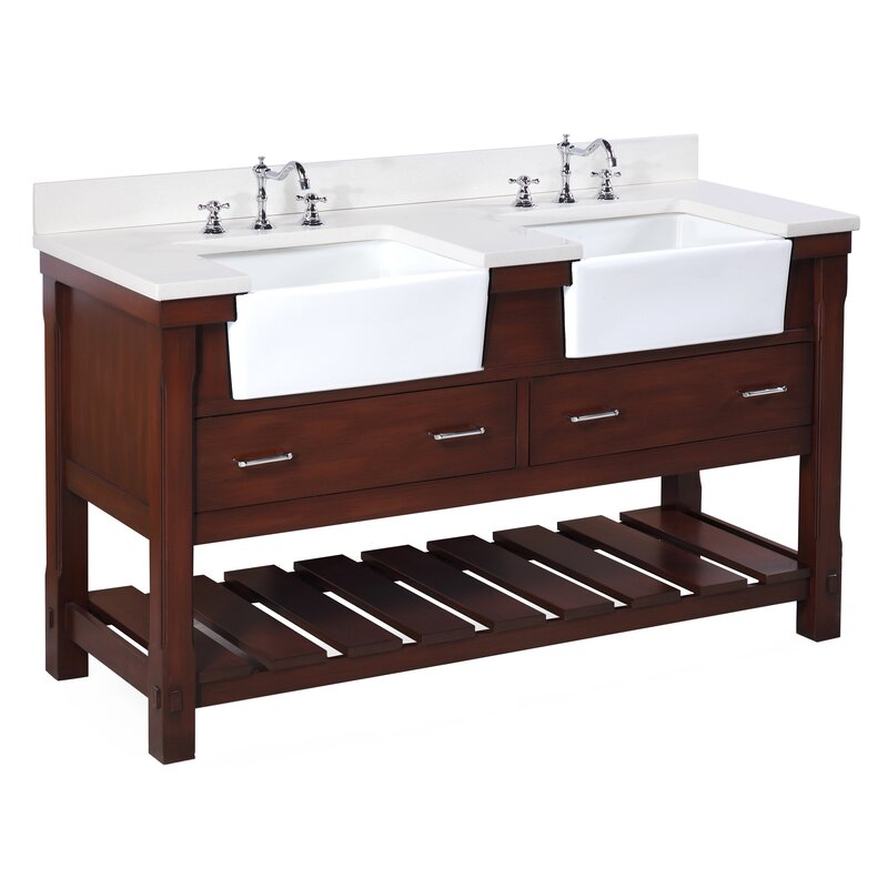 """Bathroom Vanity Sets kbc charlotte 60"""" double bathroom vanity set & reviews   wayfair"""