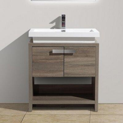 "Bathroom Vanity kube bath levi 39.5"" single modern bathroom vanity set & reviews"