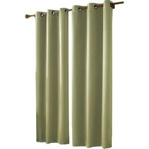Botello Twill Blackout Single Curtain Panel