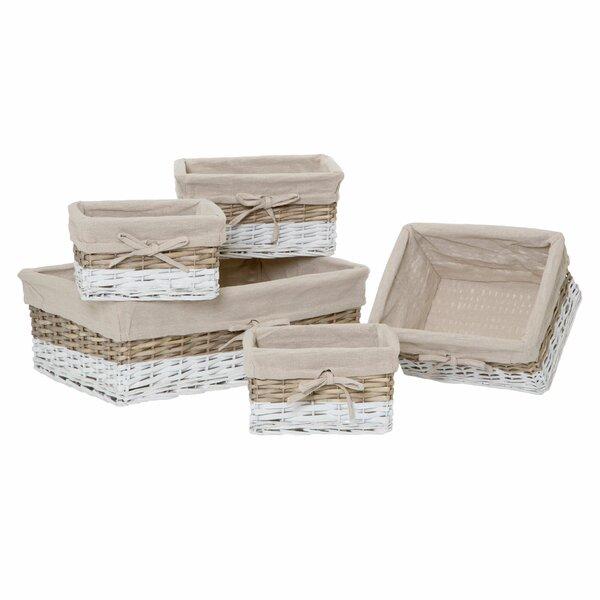 sommerallee 5 tlg korb set aus korbgeflecht. Black Bedroom Furniture Sets. Home Design Ideas