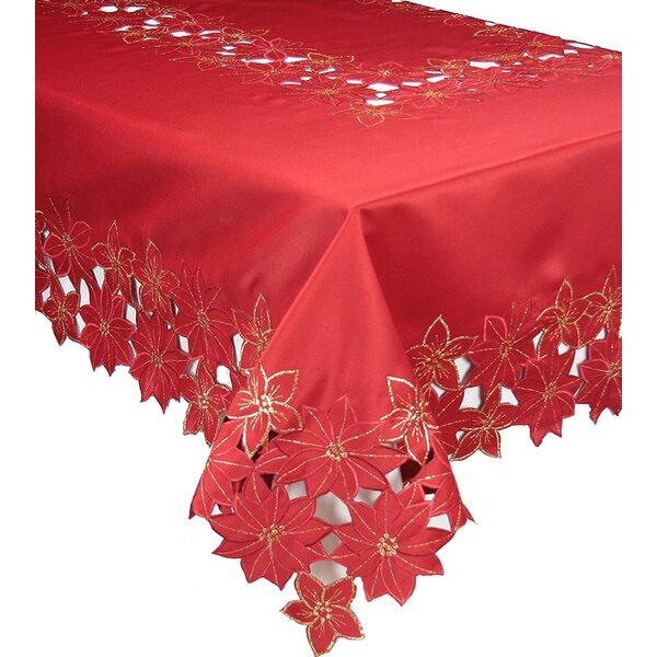Delightful The Holiday Aisle Festive Poinsettia Embroidered Cutwork Christmas Table  Cloth U0026 Reviews | Wayfair
