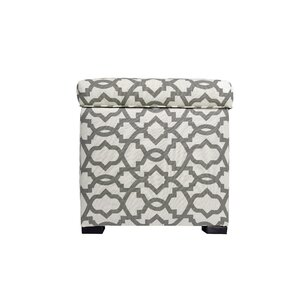 Three Posts Devaney Square Upholstered Storage Ottoman