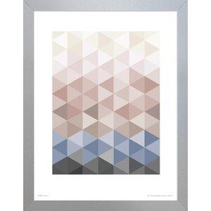 U0027Geometric Trianglesu0027 Framed Graphic Art Print