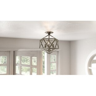 Waldrop 3 Light Semi Flush Mount