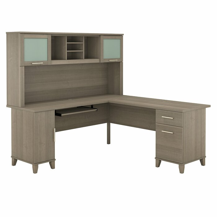 sale retailer 83c56 b3ca7 Kittle Somerset Reversible L-Shaped Executive Desk with Hutch