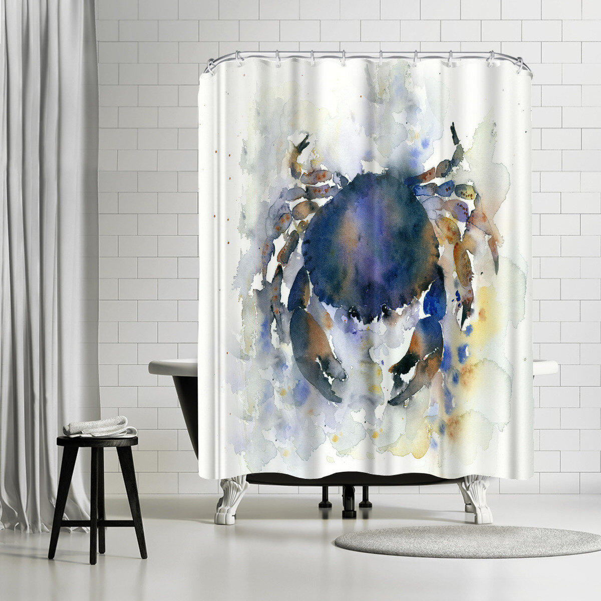 East Urban Home Rachel McNaughton Crab Shower Curtain