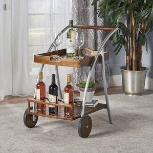 Farren Wood Bar Cart by Ivy Bronx
