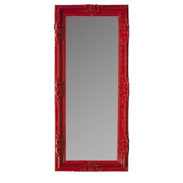 Rosdorf Park Rectangle Red Floor Mirror | Wayfair