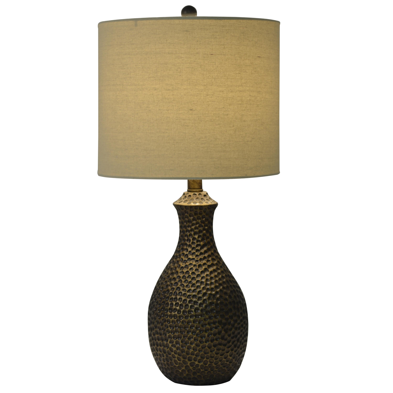 World Menagerie Abastos Hammered 235 Table Lamp Reviews Wayfair